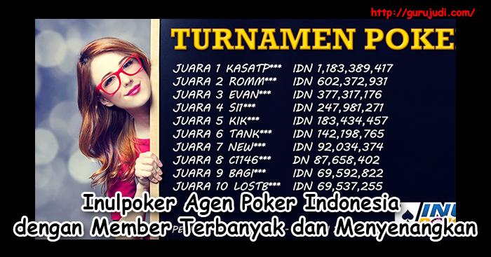 Inulpoker Agen Poker Indonesia dengan Member Terbanyak dan